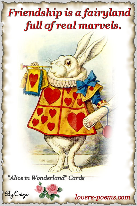 alice in wonderland friendship quotes