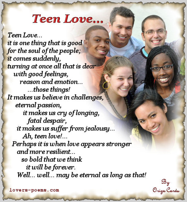 Opinion you Teen love poems for a girl for the