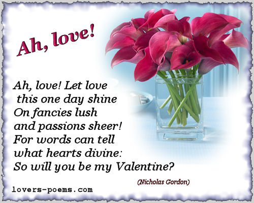Valentines Love Poems - Teen Poems - Friendship Poems , Childhood Quotes, ...