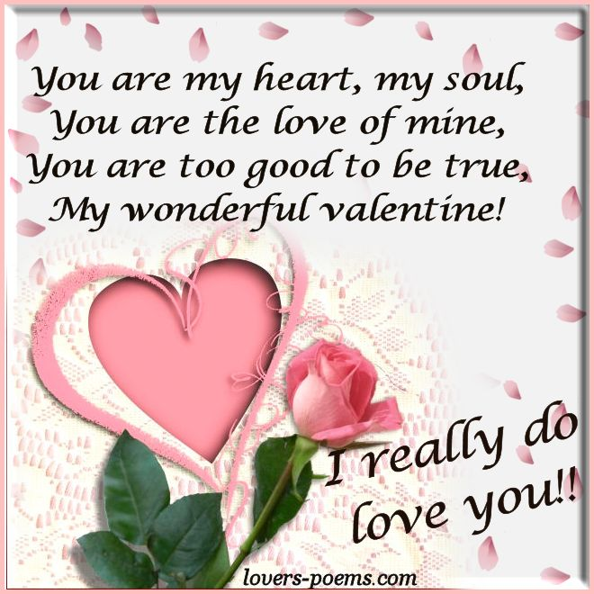 You Are My Love My Valentine Oriza Net Portal Lovers Poems Com