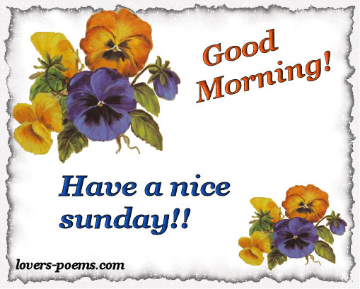 Good Morning And Happy Sunday Love Message : Happy sunday quotes oriza portal lovers poems