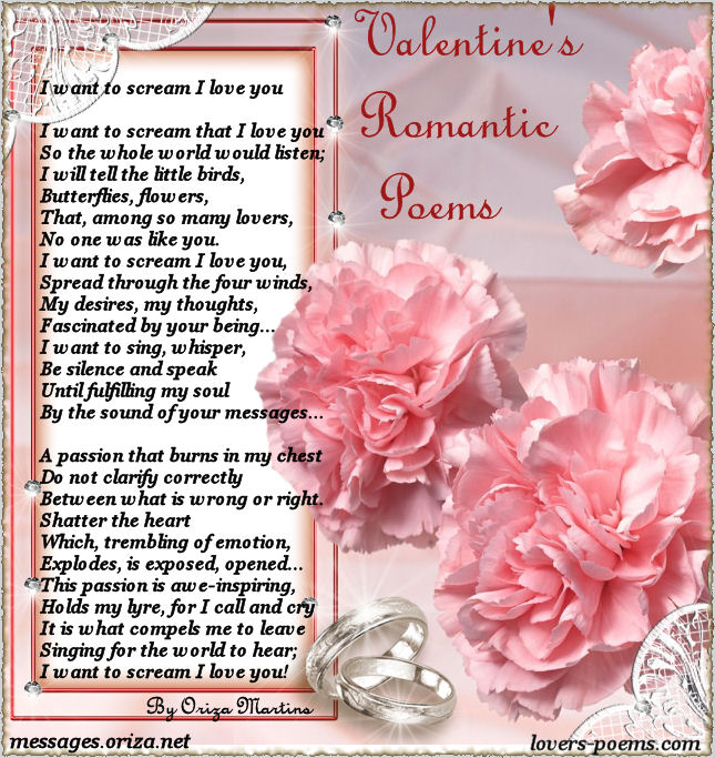 valentines love poems. Valentine Love Poem by Oriza